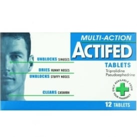 Actifed Multi Action Tablets 12