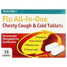 Numark Flu All-In-One Chesty Cough & Cold Tablets X 16