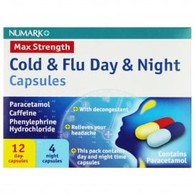 Numark Cold & Flu Day & Night Max Strength Capsules X 16