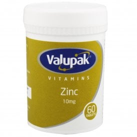 Valupak Zinc 10mg Tablets x 60