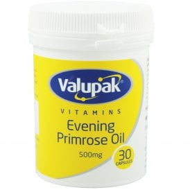 Valupak Evening Primrose Oil 500mg x 30