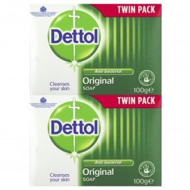 Dettol Antibacterial Original Soap 100g (Twin Pack)
