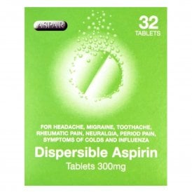 Aspirin 300mg Dispersible Tablets x 32