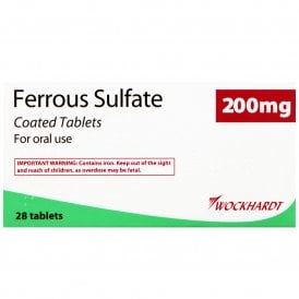 Ferrous Sulphate 200mg Tablets 28