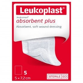 Leukoplast Leukomed Absorbent Plus Wound Dressing 5cm x 7.2cm